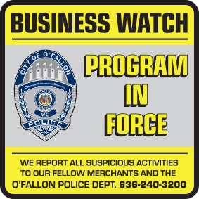 Business Watch window decal