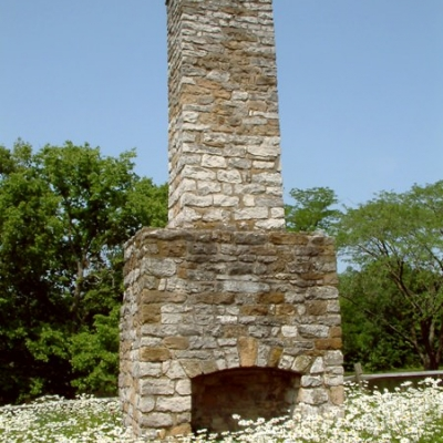 Chimney was all that remained of the original fort